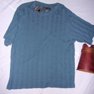 NEW mens extra large tall blue shirt dress casual